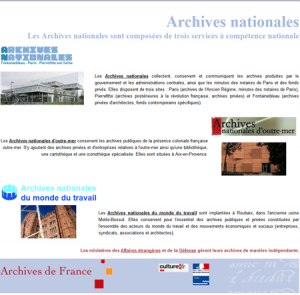 archives nationale